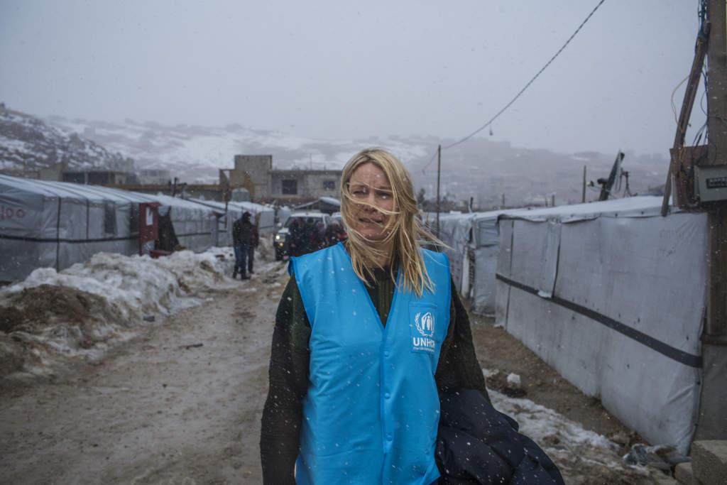 UNHCR:s hjälparbetare Karolina Lindholm Billing har varit stationerad i Libanon sedan 2016.